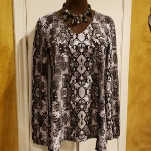 INC International Concepts Snakeskin Print Tunic